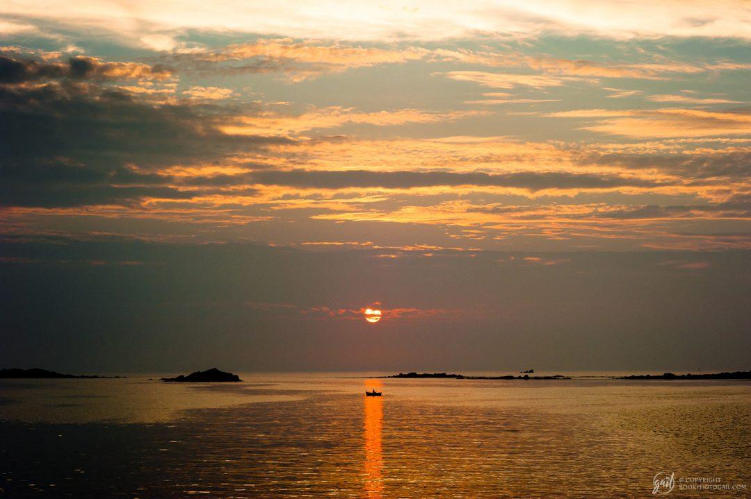 Coucher de soleil sur les côtes du Finistère