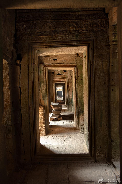 Intérieur du temple Bayon à Angkor Thom
