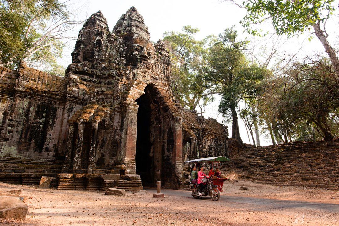 La porte nord d'Angkor Thom