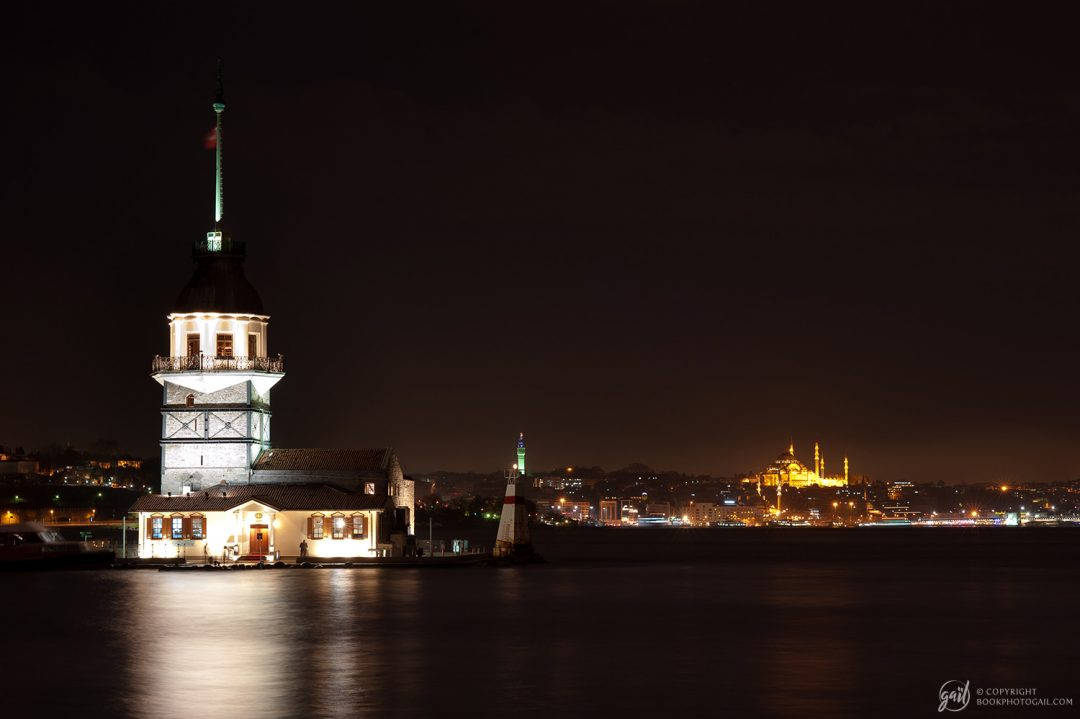 La tour de Léandre, Kız Kulesi, de nuit
