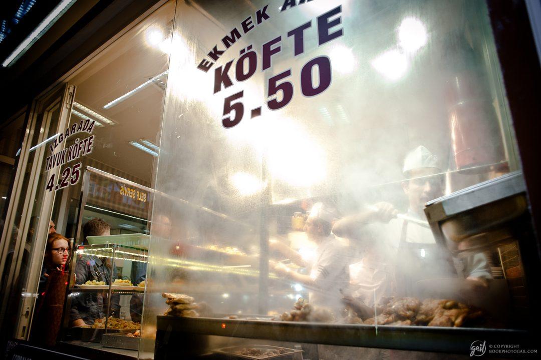 Scène de nuit à Istanbul