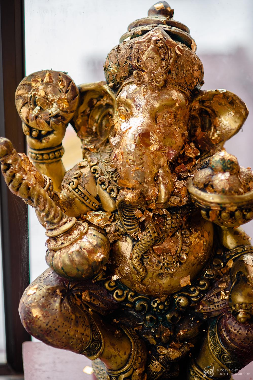 Statue de Ganesh au temple de Wat Khao Bot à Bang Saphan
