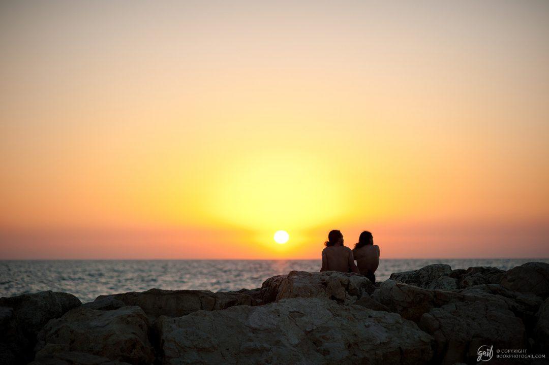 Coucher de soleil sur Tel Aviv