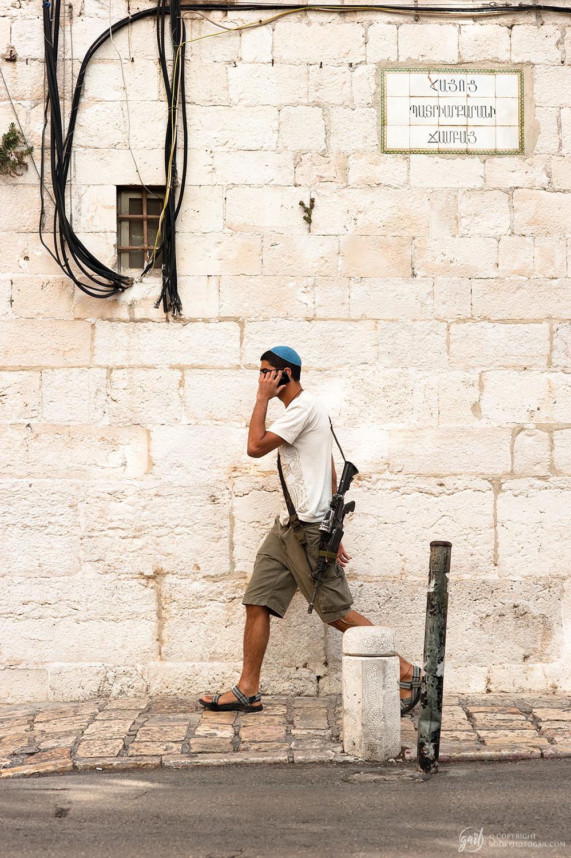 Scène de rue à Jérusalem