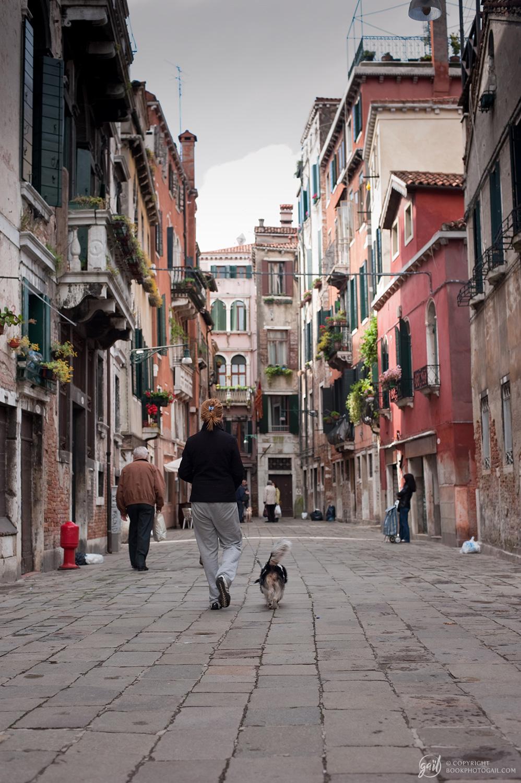 Scène de rue à Venise