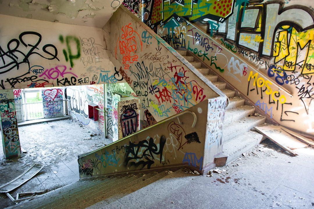 Bâtiment abandonné à Stralauer Platz, Berlin