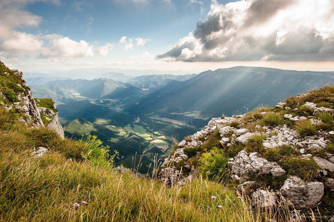 Panorama sur la vallée de Quint depuis le plateau de Font d Urle