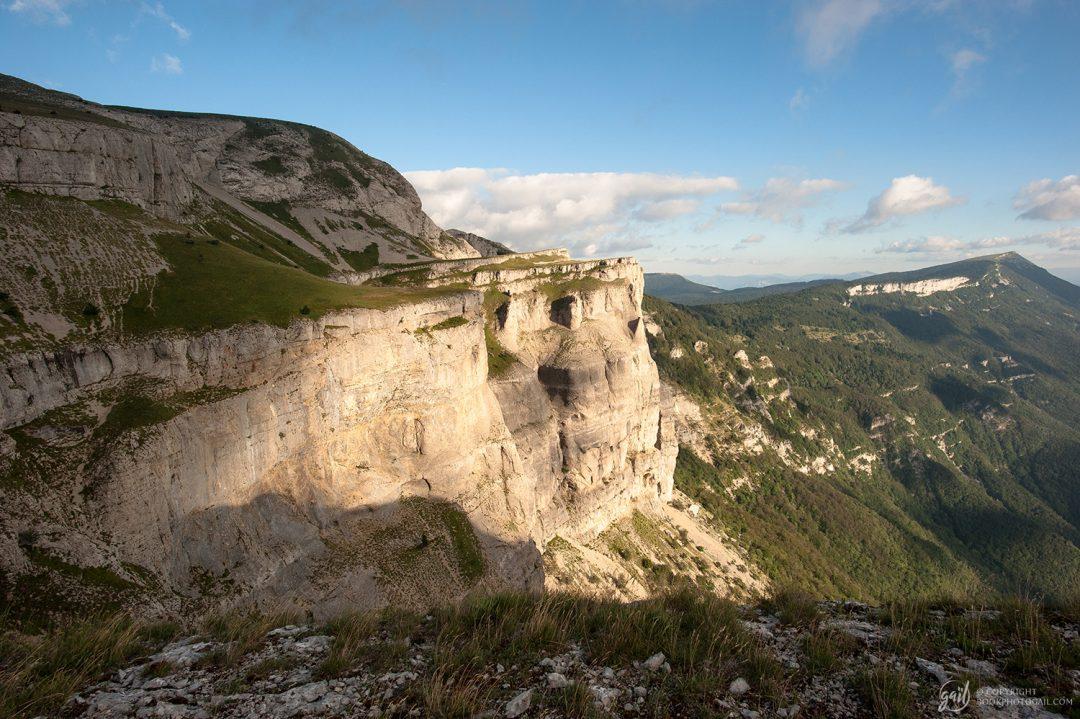 Les falaises du Puy de la Gagère dans le Vercors