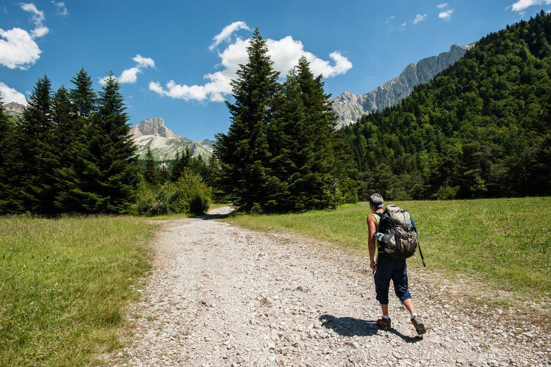 Début de la randonnée dans le Vallon de la Jarjatte