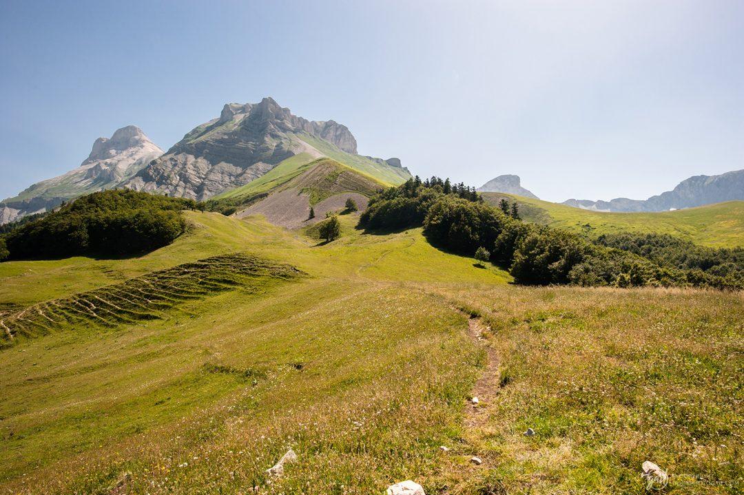Vue sur la Tête de Lauzon et le Grand Ferrand