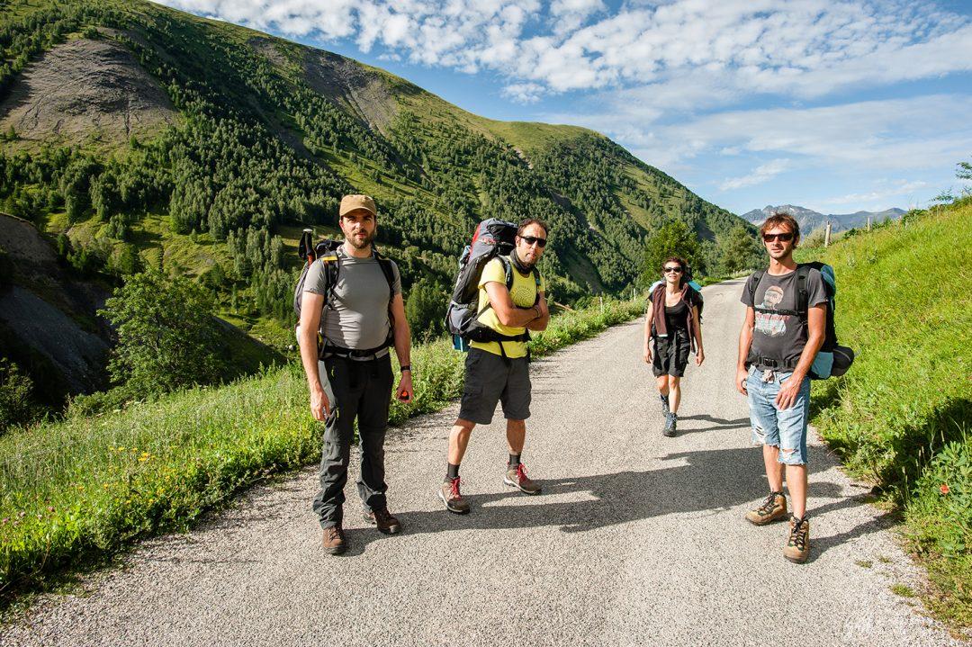 Photo de groupe au départ de la randonnée