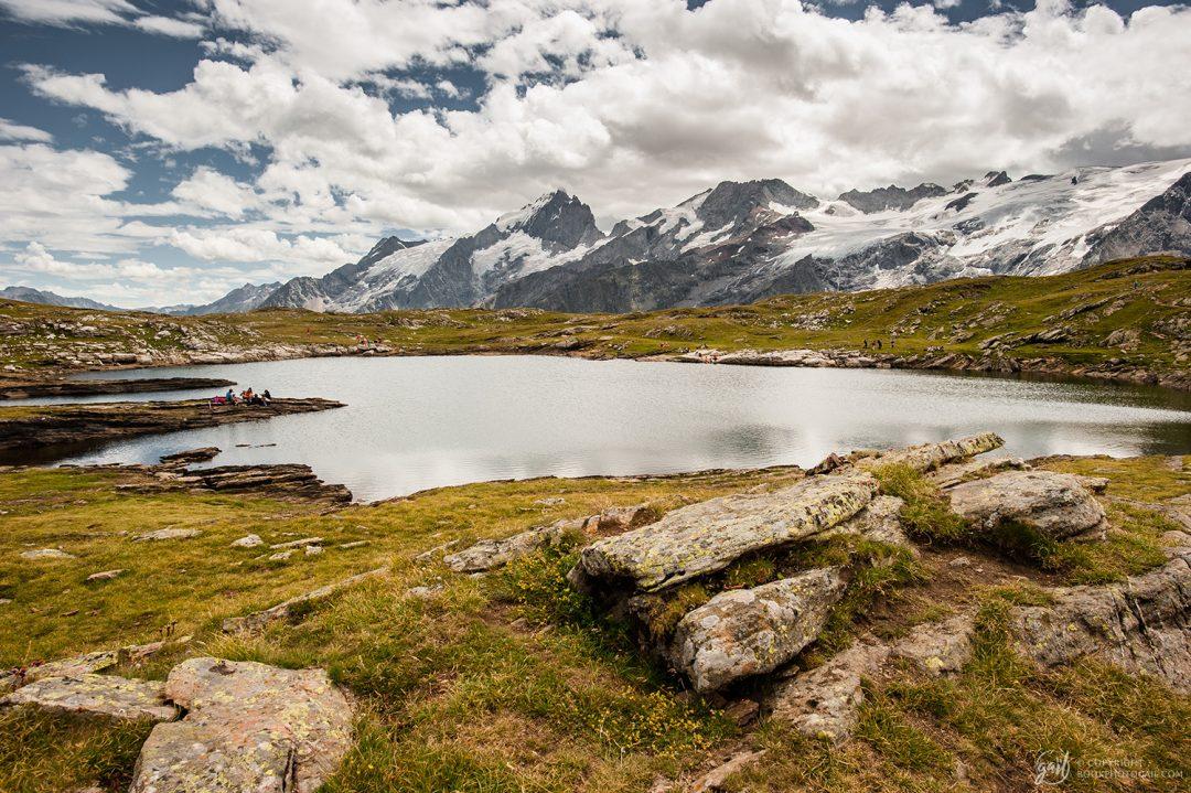 Le Lac Noir et son panorama sur la Meije et la glacier de la Girose