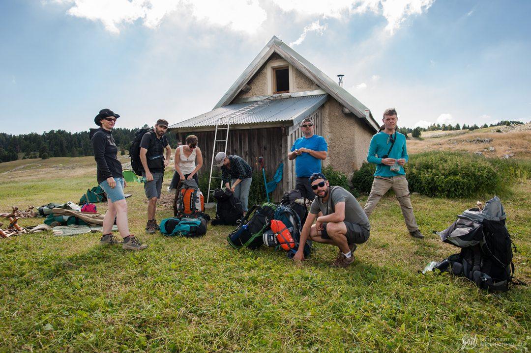 Pause à la Cabane de Pré Peyret