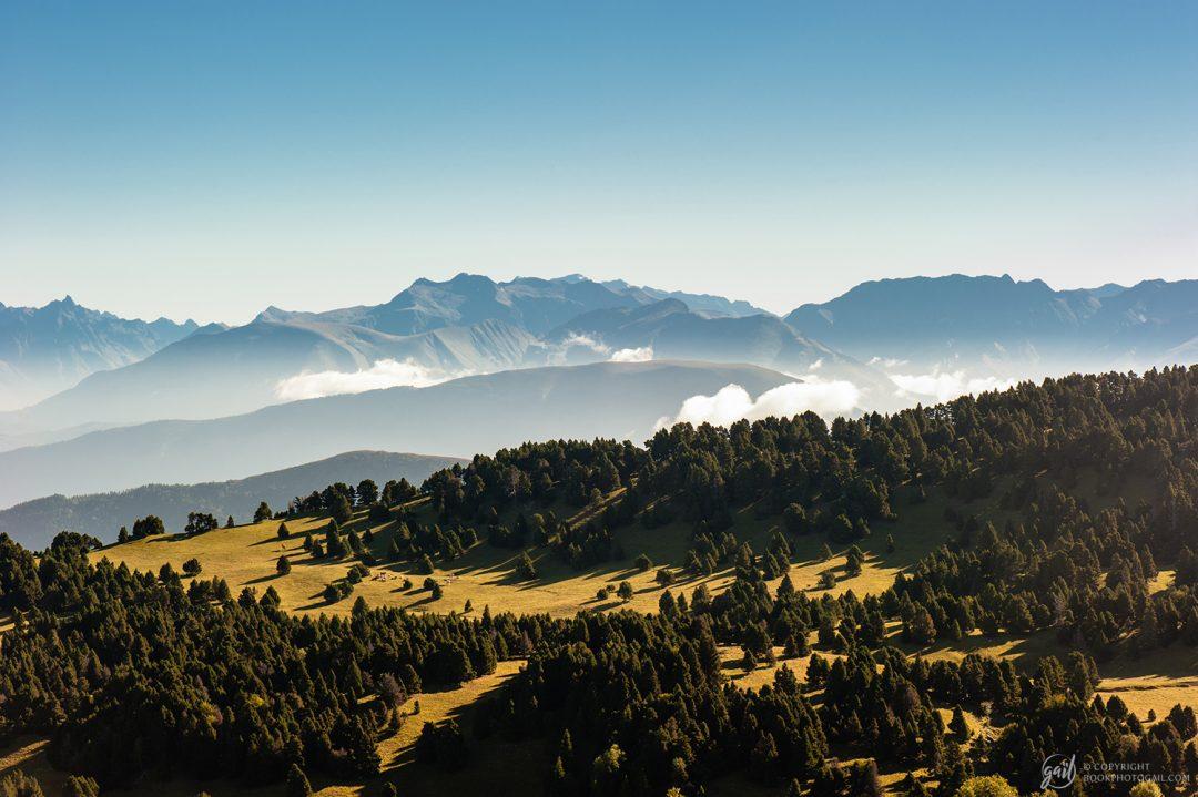 Vue sur le massif du Devoluy depuis le Vercors