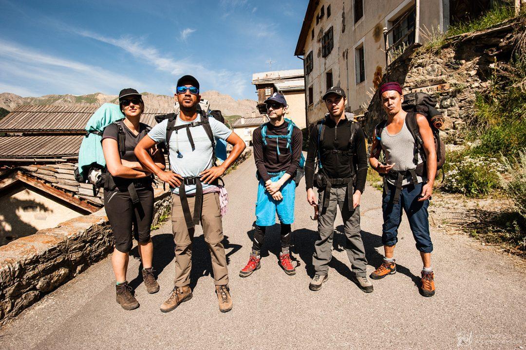 Notre groupe de randonnée du Queyras au départ de Saint Véran