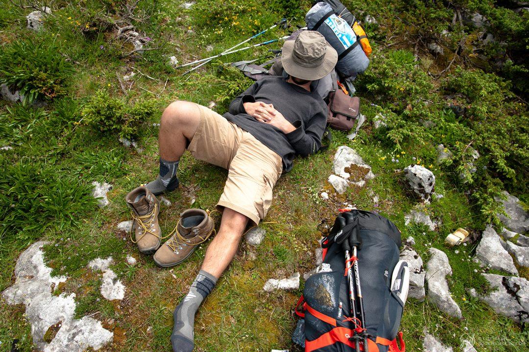 Sieste en randonnée