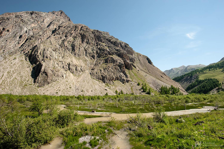 Le Plan de Parouart, très belle zone humide alpine préservée de la haute Ubaye
