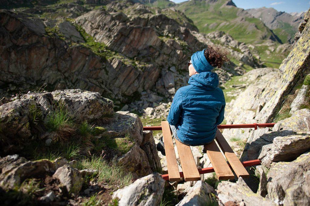 Méditation face aux montagnes au col de Longet