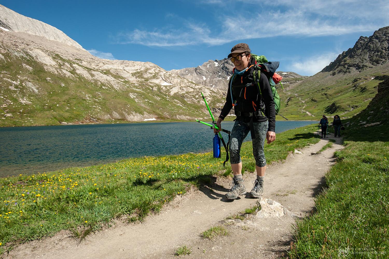 Arrivée au lac Foréant, notre étape bivouac pour la nuit sur le tour du Queyras
