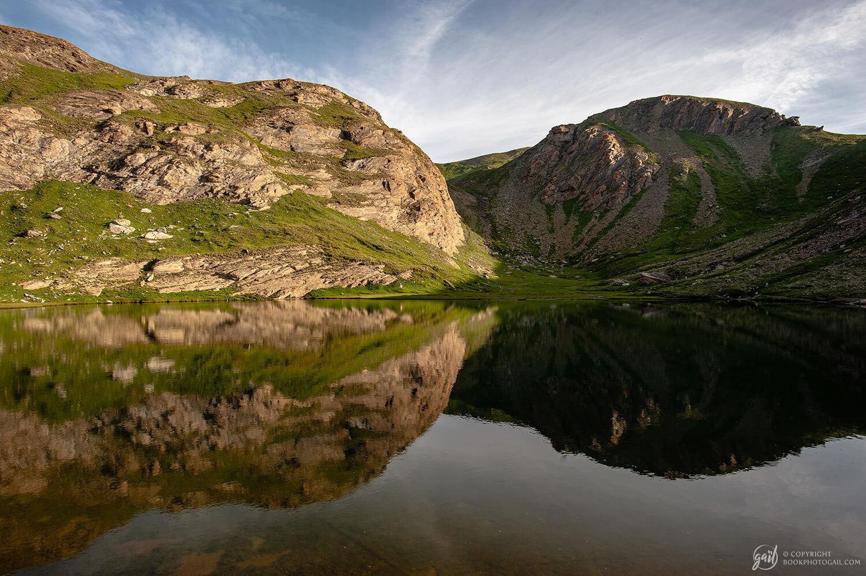 Lever de soleil sur le lac du Petit Laus (lacs du Malrif)
