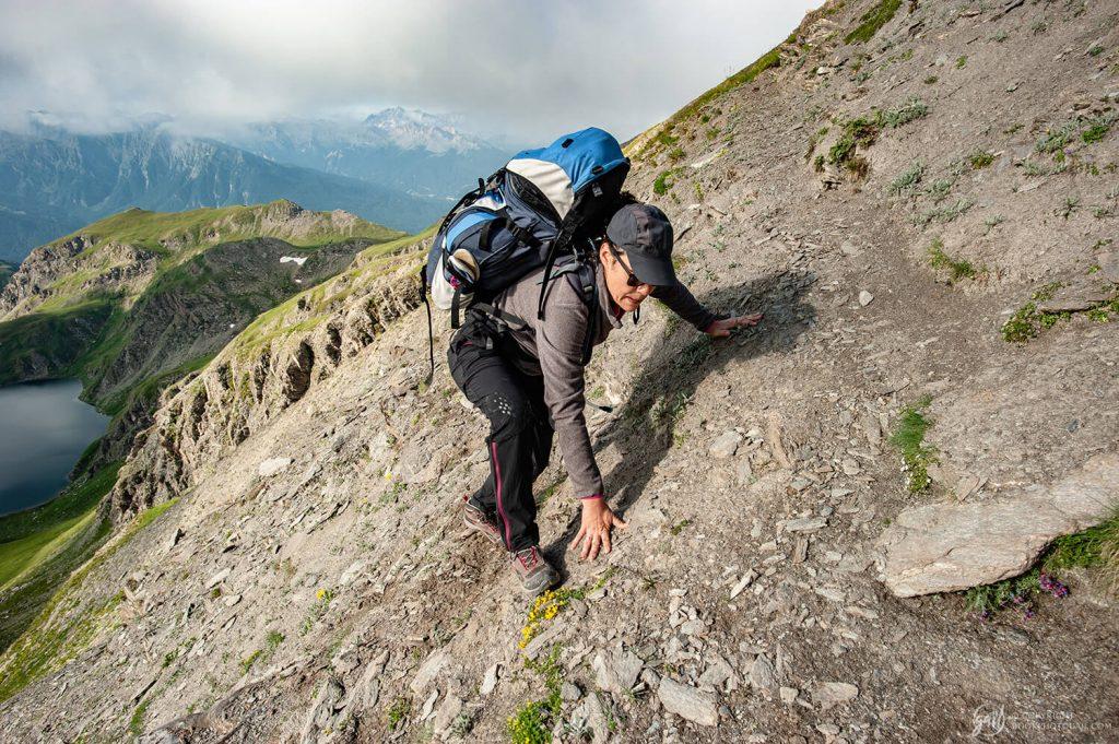 Randonnée hors-piste sur les crêtes du Queyras aux abords du col du Malrif
