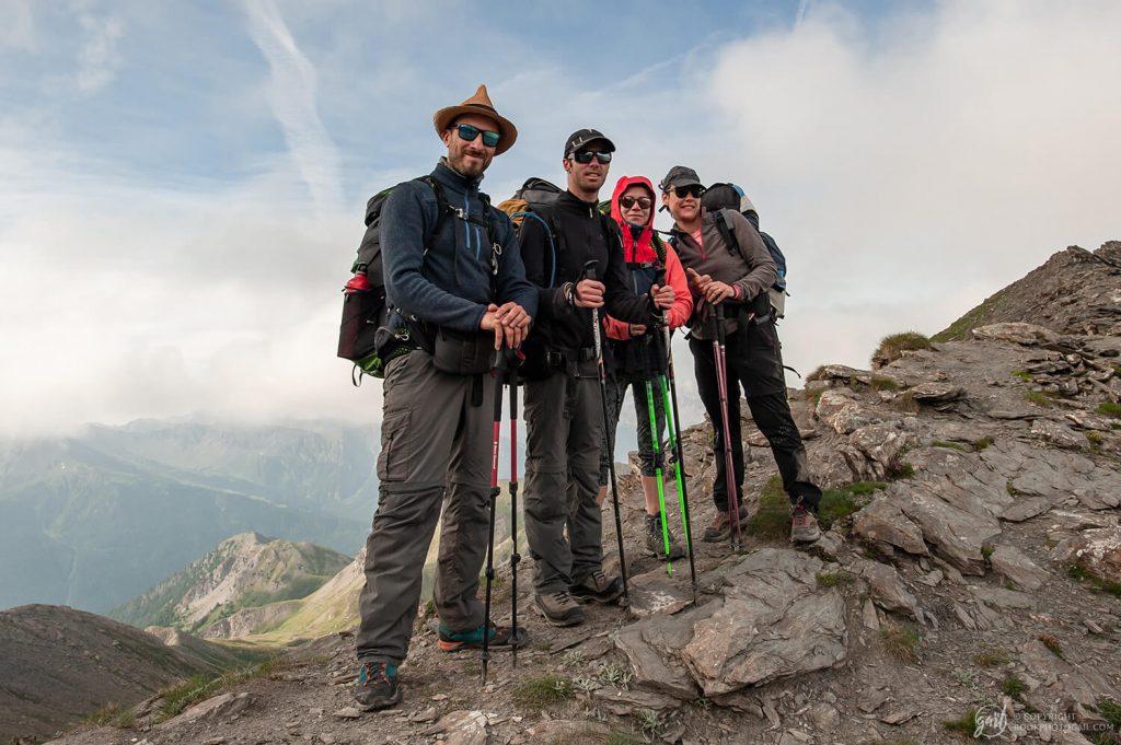 Photo de groupe au col du Malrif