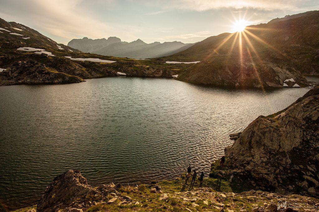 Les Lacs de Longet au couher du soleil