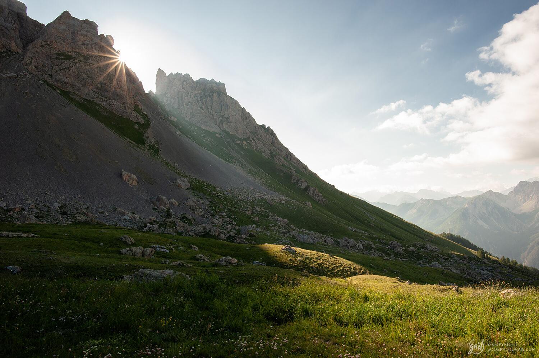 Lever de soleil sur l'alpage de Furfande